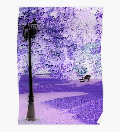 """A Romantic Bavarian Beergarden featured in """"A fascinating purple"""" Poster"""