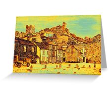 Richmond from the Green in yellow/gold Greeting Card
