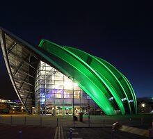 Glasgow Clyde Auditorium at Night by Maria Gaellman