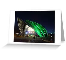 Glasgow Clyde Auditorium at Night Greeting Card