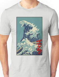 Godzilla Kanagawa wave with backgroud Unisex T-Shirt