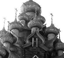 Orthodox wooden church by Eduard Isakov