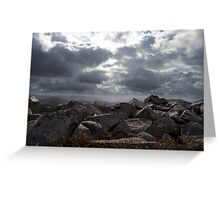 Cloudscape Above the Stiperstones Greeting Card