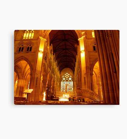 St Mary's Cathedral Interior Canvas Print