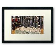 A Shearer and His Sheep. Framed Print