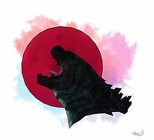 Godzilla rising by CptSnuggs