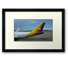 Colourful Fiji Airliner. Framed Print