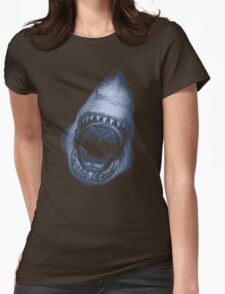 Shark Attack Womens Fitted T-Shirt