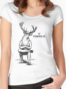Stag Tee Forces Logo Women's Fitted Scoop T-Shirt