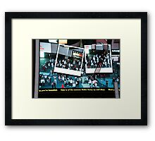 Denzil in Times Square Framed Print