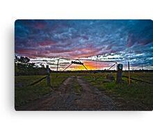Woodville Sunset Landscape HDR Canvas Print