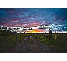 Woodville Sunset Landscape HDR Photographic Print