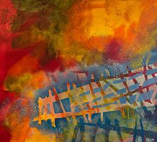 Colored Fences by Natalie Bester