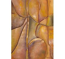 Earth Tone Abstract Original Art Work Photographic Print
