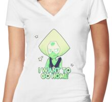 Relatable Peridot Women's Fitted V-Neck T-Shirt