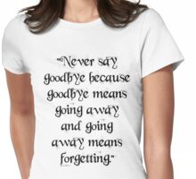 Peter Pan quote Womens Fitted T-Shirt