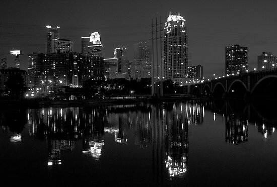 Downtown Minneapolis Reflection 6.4.11 by Mark Jackson