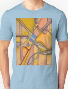Yellow Hues Original Abstract Acrylic on Canvas Unisex T-Shirt