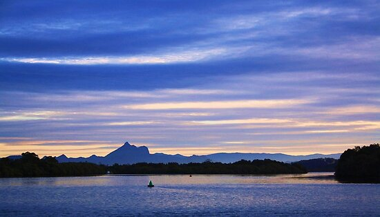 wollumbin blue.. by gail woodbury