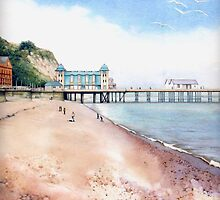 Penarth Pier, Cardiff, South Wales. by Helen Lush