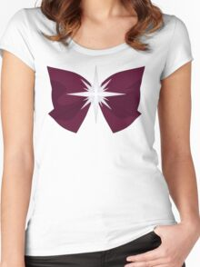 Sailor Saturn Bow Women's Fitted Scoop T-Shirt