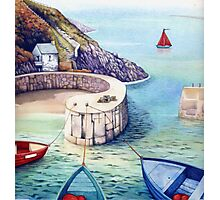 Porthgain Harbour, Pembrokeshire, Wales. Photographic Print