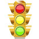 Cross road traffic lights by Laschon Robert Paul