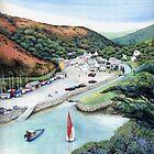 Solva Harbour, Pembrokeshire, West Wales. by Helen Lush