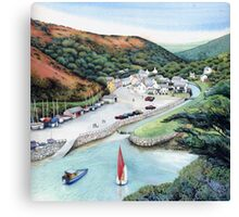 Solva Harbour, Pembrokeshire, West Wales. Canvas Print