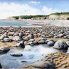 Towards Atlantic College, Glamorgan Coast, South Wales. by Helen Lush