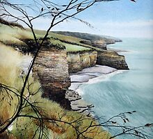 Towards Llantwit Major - South Wales coastal view by Helen Lush