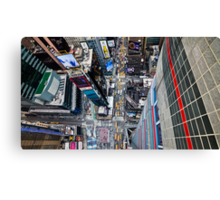 Manhattan in motion - bird's eye Times Square Canvas Print