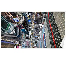 Manhattan in motion - bird's eye Times Square Poster