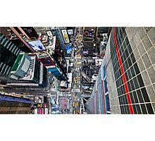Manhattan in motion - bird's eye Times Square Photographic Print