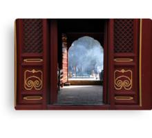Beijing - Chinese door Canvas Print