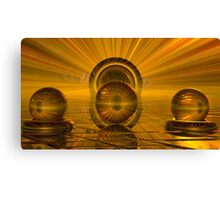 Coloured Gridrion Canvas Print
