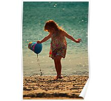 Fun at the beach Poster