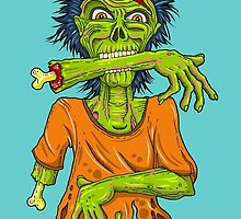 Freaky Zombie by citystickers