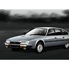 Citroen CX GTI MK1 Illustration by Autographics
