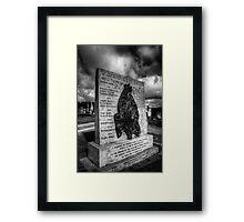 Hunger Strike Memorial Framed Print
