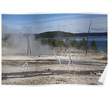 Yellowstone National Park - Hot Springs Poster