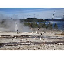 Yellowstone National Park - Hot Springs Photographic Print