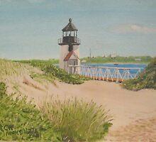 Brandt Point Lighthouse - nantucket by artofjackmck
