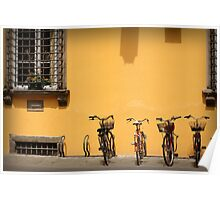 Bicycles Rest Here Poster