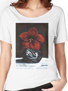 Modest Little Red Flower Women's Relaxed Fit T-Shirt