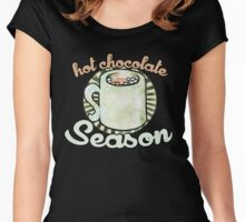 Hot Chocolate season Women's Fitted Scoop T-Shirt