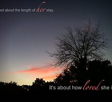 It's not about the length of her stay... by Tiffany De Leon