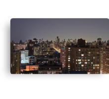 Manhattan in motion - upper west side  Canvas Print