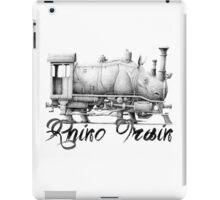 Rhino train drawing iPad Case/Skin