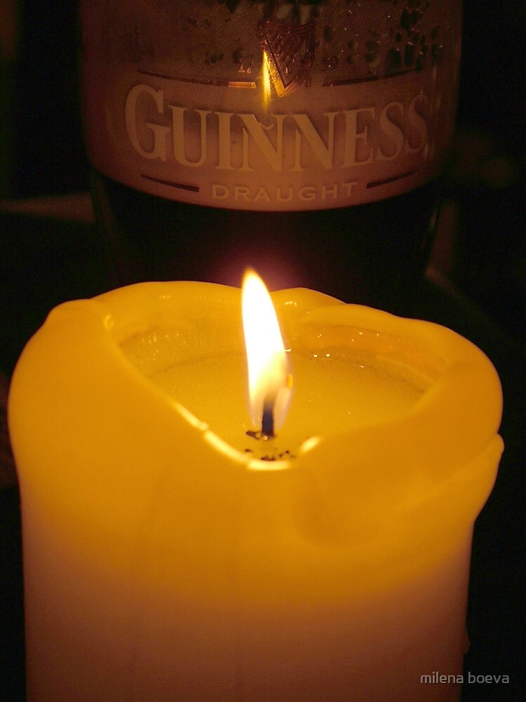 guiness glass of beer by milena boeva